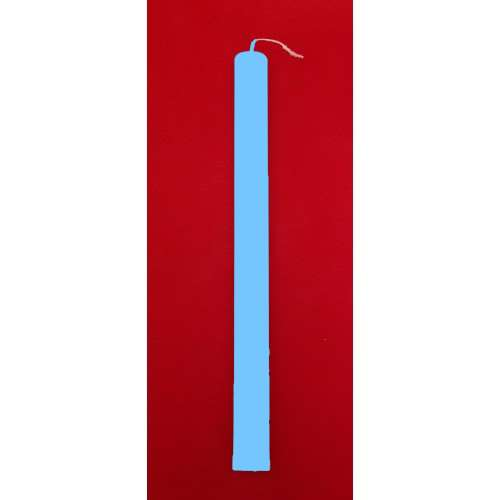 Λαμπάδες Γαλαζιες Πλακέ 35 cm - (1234568884)
