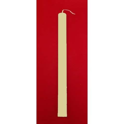 Λαμπάδες Μπεζ Πλακέ 35 cm - (1234568886)
