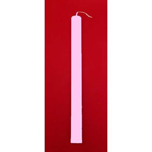 Λαμπάδες Ροζ Πλακέ 35 cm - (1234568885)