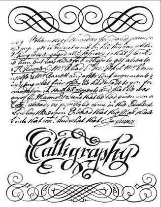 Σφραγίδα 14x18cm Calligraphy - Stamperia
