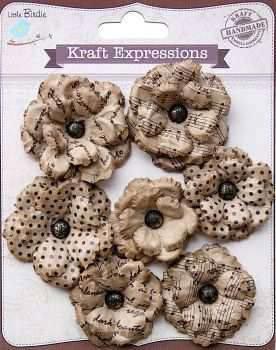 Λουλούδια Kraft Handmade 7 τεμ.