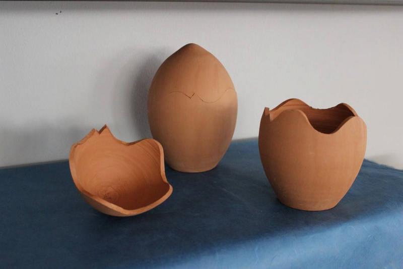 Αυγό κεραμικό μεγάλο διαιρούμενο 18χ13cm