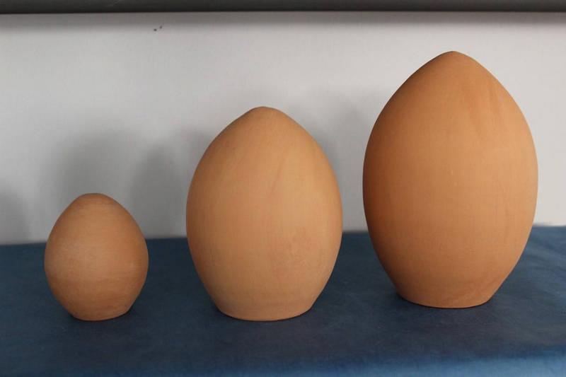Αυγό κεραμικό μεσαίο 13.5χ11cm
