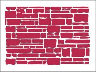 Stencil Texture brick 20X15cm - Stamperia