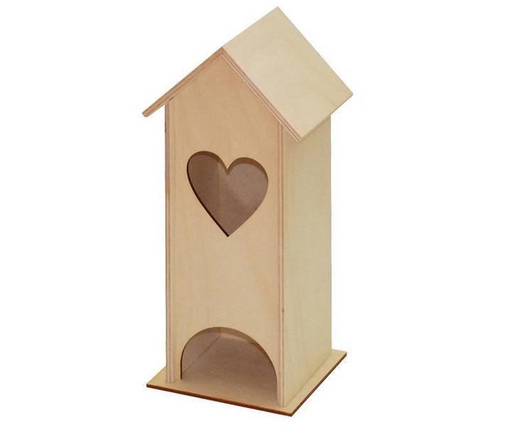 Ξύλινο Σπίτι Καρδία 250x100x100mm