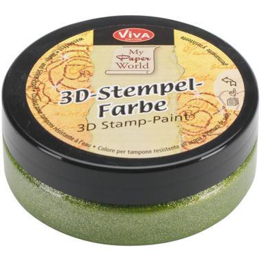 3D Stempel-farbe VIVA DECOR 50ml - Grass Green Metallic - 119391336