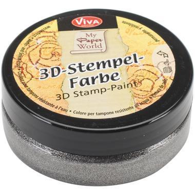 3D Stempel-farbe VIVA DECOR 50ml - Steel-Metallic - 119391536