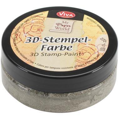 3D Stempel-farbe VIVA DECOR 50ml - Silvergold-Metallic - 119391636