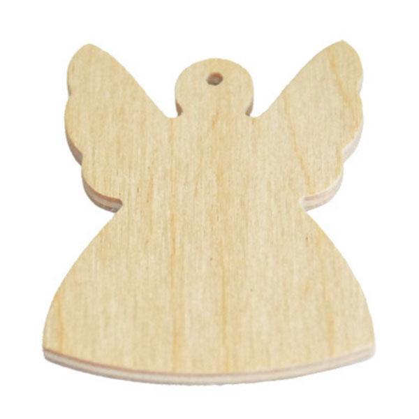 Ξύλινο Διακοσμητικό Αγγελάκι 10cm
