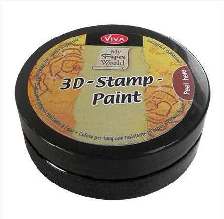 3D Stempel-farbe VIVA DECOR 50ml - Black  - 119380036