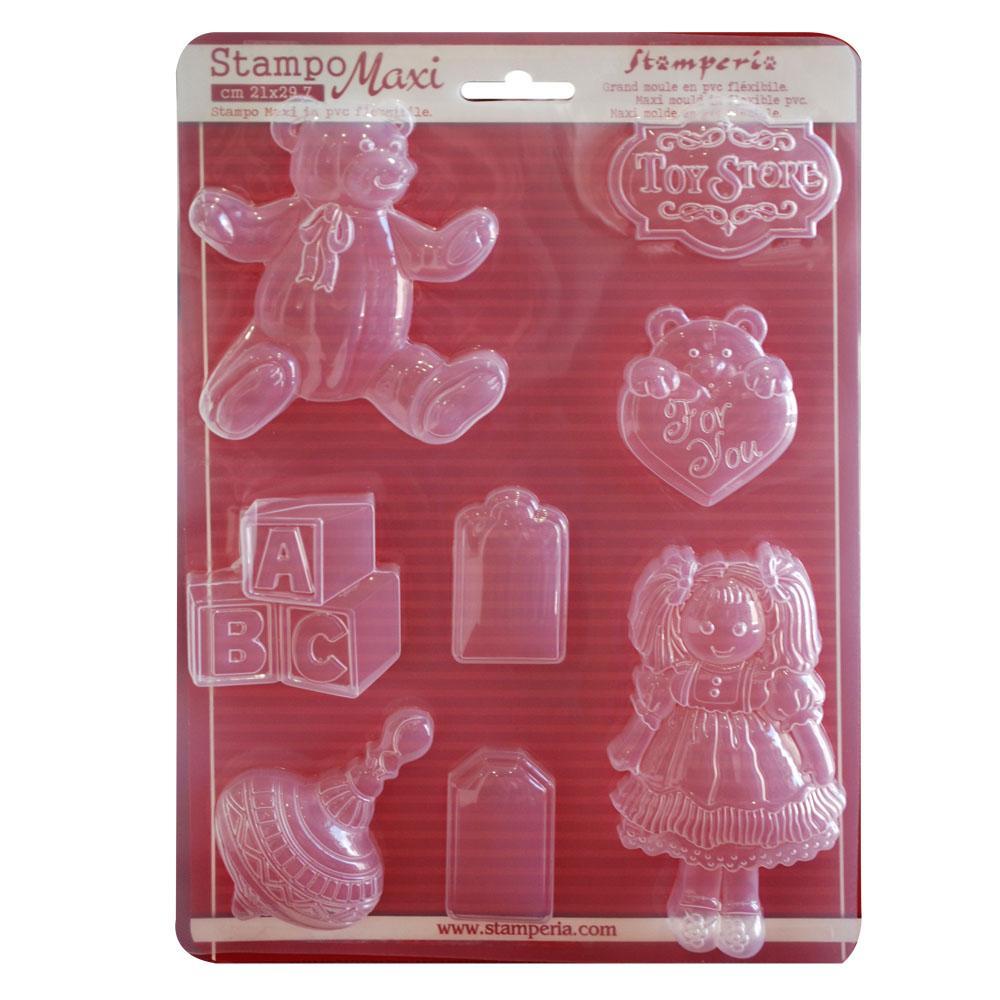 Μαλακά Εύκαμπτα Καλούπια Σιλικόνης  Toy Store 21x29.7cm - Stamperia - K3PTA422