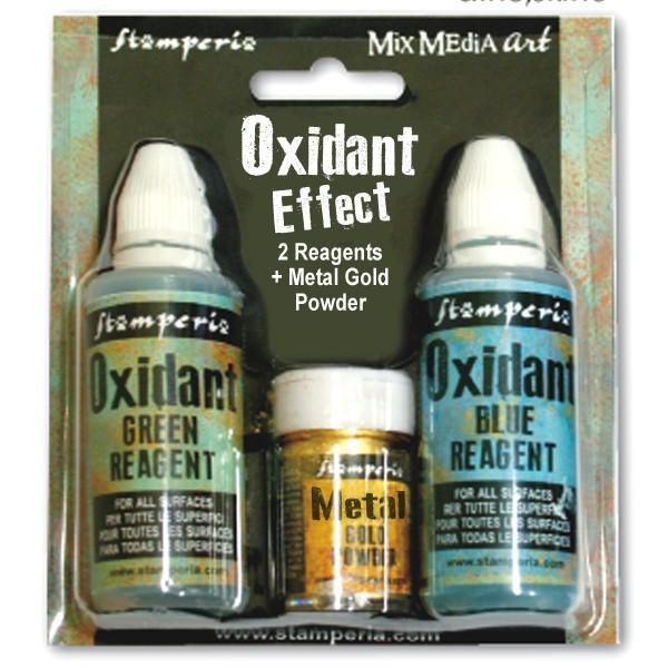 Oxidant Effect 2x60 ml and Gold Powder 20gr Stamperia - (KE42M)