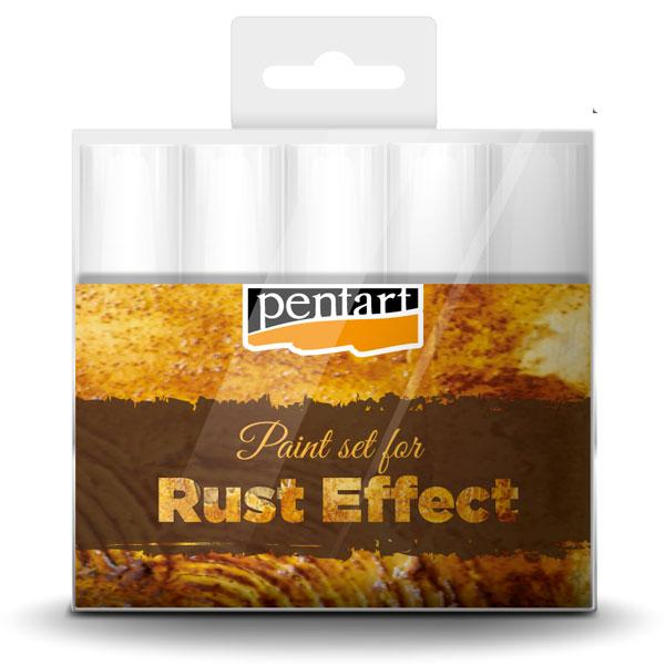 Rust effect paint set 5x20ml Pentart - 29762
