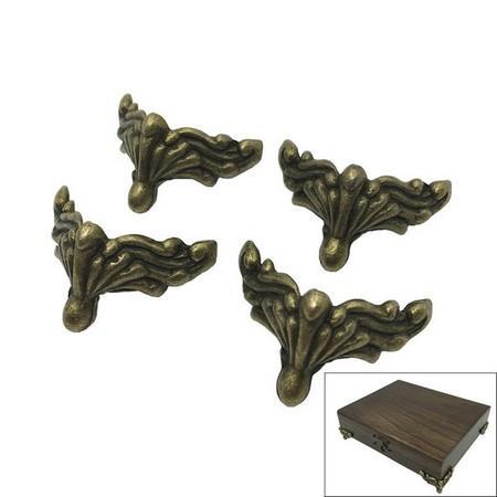 Ποδαράκια μεταλλικά antique για κουτιά 36x25mm - σετ 4 τεμ - al28321