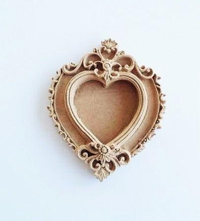 Ξυλόγλυπτο mini Καρδία 7x5.5cm - dar021