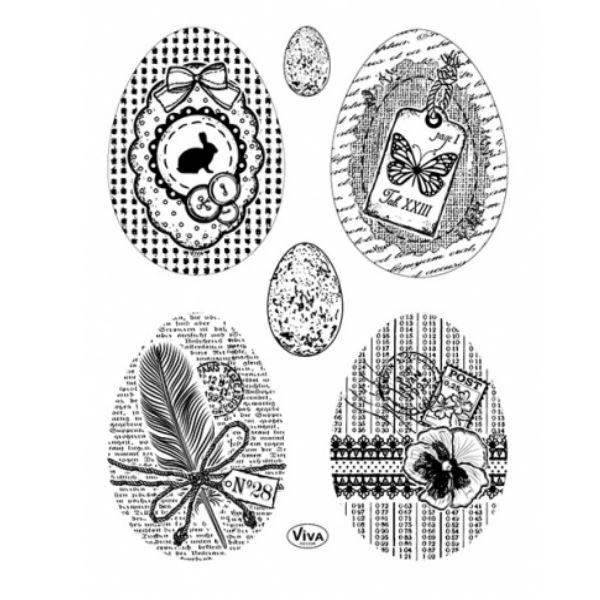 Silicone Stamps 14x18 cm Vintage Easter- Viva Decor - (400313700)