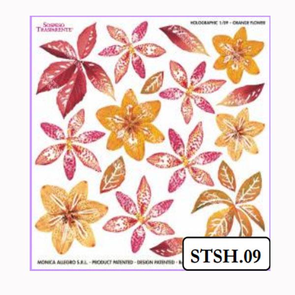 Ζελατίνες Holographic Orange Flower Sospeso Transparente