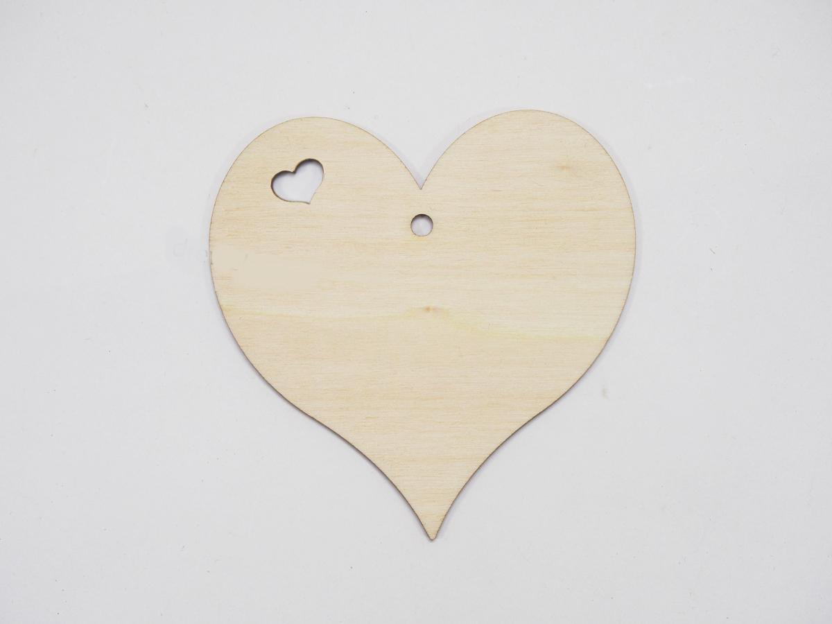 Ξύλινες καρδιές με καρδιά τρύπα 10cm  (123456155063)
