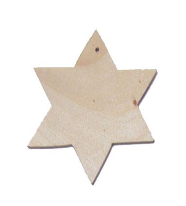 Ξύλινο Αστεράκι Διακοσμητικό 37mm
