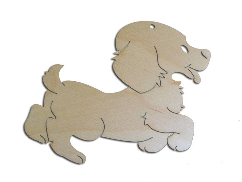 Ξύλινο Διακοσμητικό Σκυλάκι 10cm  (123456155066)