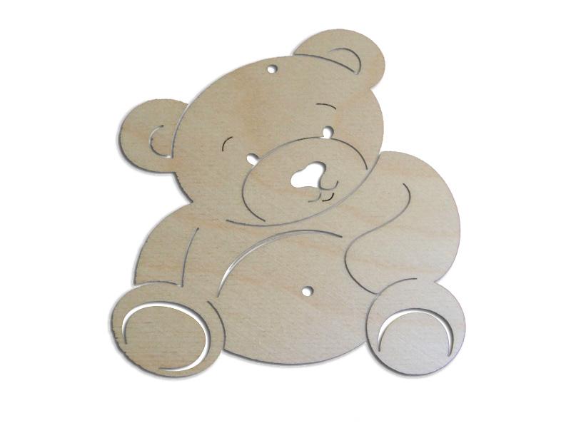 Ξύλινο Διακοσμητικό Αρκουδάκι 10cm  (123456155067)