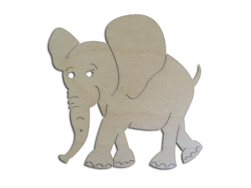 Ξύλινο Διακοσμητικό Ελεφαντάκι 10cm  (123456155068)