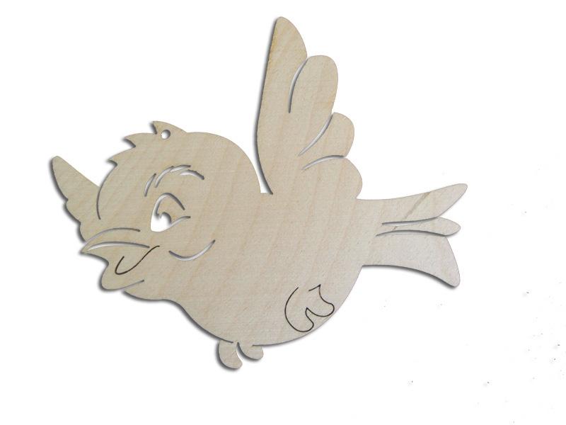 Ξύλινο διακοσμητικό Πουλάκι 10cm (123456155071)
