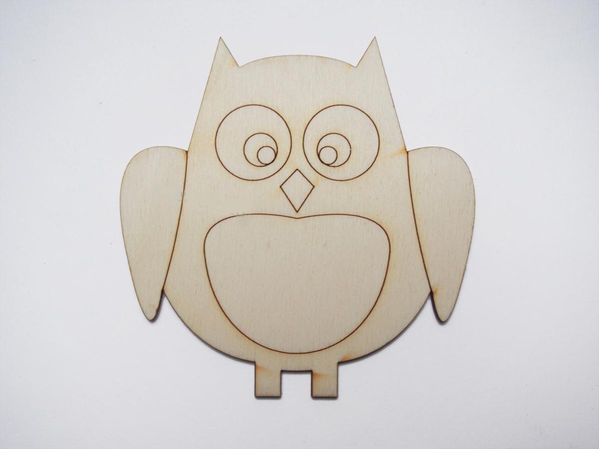Ξύλινο Διακοσμητικό Κουκουβάγια 9cm  (123456155070)