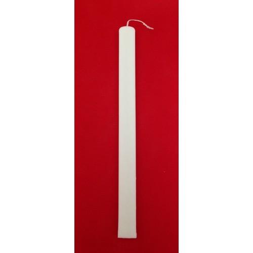 Λαμπάδες Λευκές Πλακέ 35 cm
