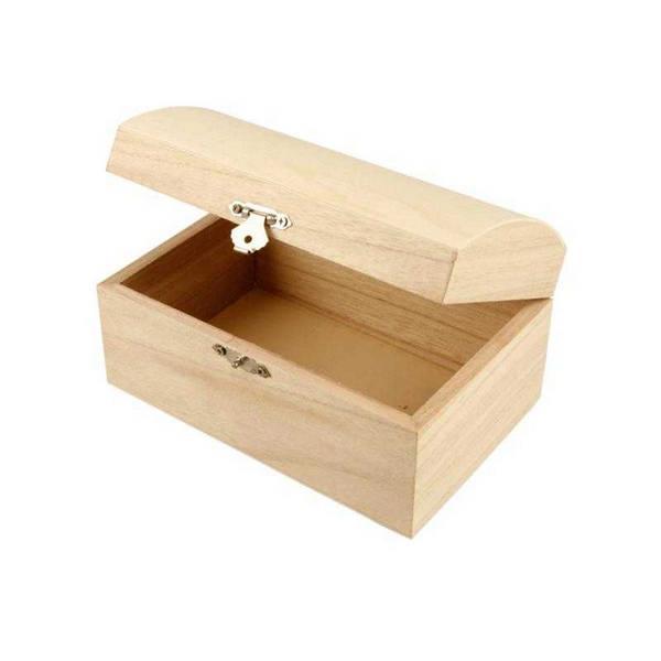 Κουτί ξύλινο με καμπυλωτό καπάκι 16.5x11x8.55 cm