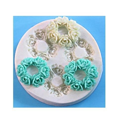 Καλούπι σιλικόνης, Flower wreaths 65x10mm