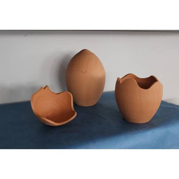 Αυγό κεραμικό μεσαίο διαιρούμενο 13.5χ11cm