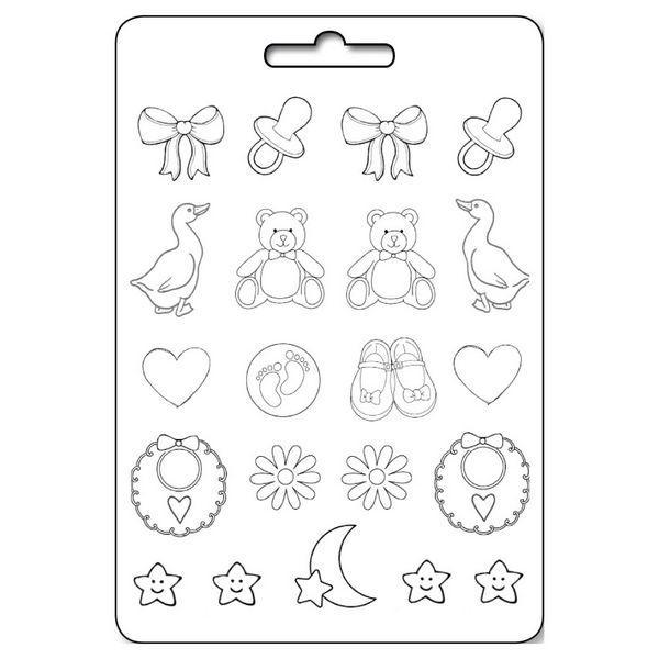 Καλούπι Σιλικόνης Παιδικά Μικρά Σχέδια 21x29.7cm - Stamperia