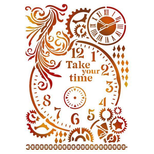Stencil με ρολόι 21x29.7cm