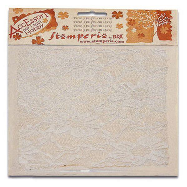 Διακοσμητική Δαντέλα λευκή 30x30 εκ.