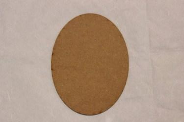 MDF oval 200x150mm