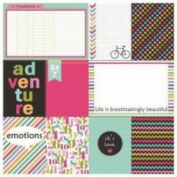 Χαρτί scrapbooking Double-sided 30 - 5x30.5cm - Everyday Adventure