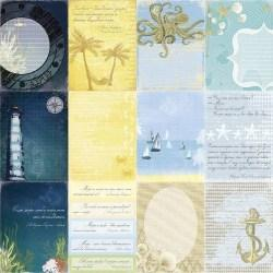 Χαρτί scrapbooking Double-side 30 - 5x30 - 5cm 180gsm Seaside Sea Legends