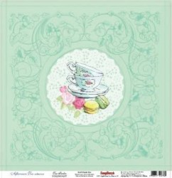 Χαρτί scrapbooking one side 30.5x30 - 5cm 180gsm Afternoon Tea Tea Parlor