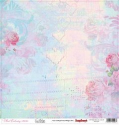 Χαρτί scrapbooking Double-side 30 - 5x30 - 5cm 180gsm Floral Embroidery - Melange