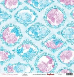 Χαρτί scrapbooking Double-side 30 - 5x30 - 5cm 180gsm Floral Embroidery - Canvas