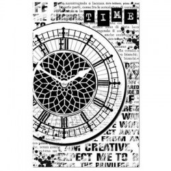 Σφραγίδα HD Clock 7x11cm  - Stamperia