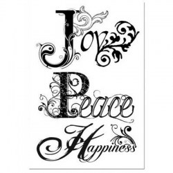 Σφραγίδα HD Joy Peace 7x11cm  - Stamperia