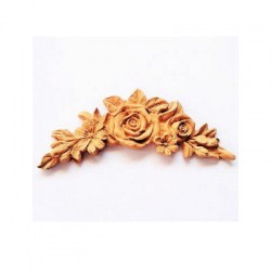 Ξυλόγλυπτο Rose garland small 12.5x6cm