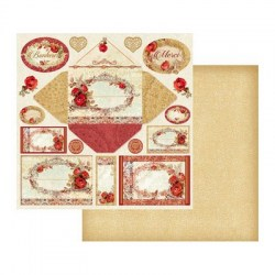 Χαρτί scrapbooking double face 31 - 2x30 - 3cm - Stamperia