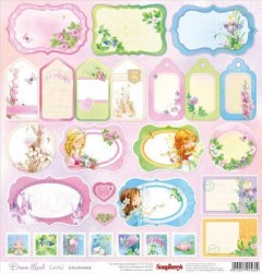 Χαρτί scrapbooking one side 30.5x30 - 5cm 180gsm Dream Land.