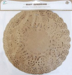 "DOILIES ORNATE 10"" & 6PCS KRAFT EXPRESSIONS."