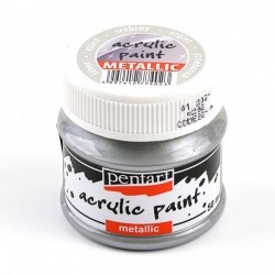 Metallic Paint 50ml Pentart  - Silver