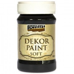 Decor Soft Paint 100ml Pentart - Black