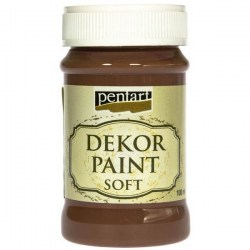 Dekor Soft Paint 100ml Pentart - Brown